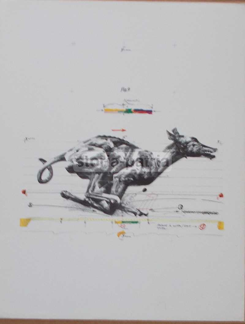 Arte Moderna, Velickovic, Animals In Motion, Dog N 9, Suggestiva Grafica Bolaffi anteprima